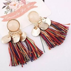 🆕Bohemian Multicolored Tassel Fringe Earrings